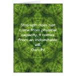 Gandhi Inspirational Motivational Quotation Greeting Card
