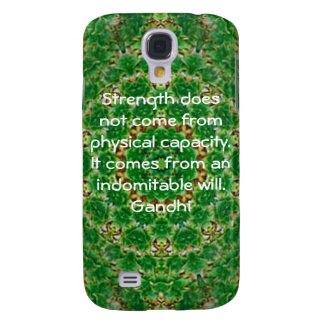 Gandhi Inspirational Motivational Quotation Galaxy S4 Cover