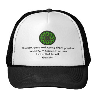 Gandhi Inspirational Motivational Quotation Trucker Hat