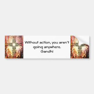 Gandhi Inspirational Quotation About Taking Action Bumper Sticker