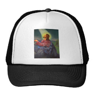 Gandhi Inspirational Quotation About Taking Action Hats