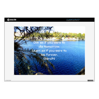 Gandhi Inspirational Quote About Learning Skin For Laptop
