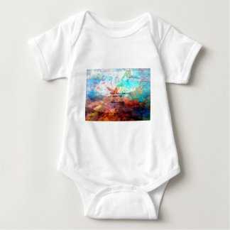 Gandhi Inspirational Quote about Love, Life & Hope Baby Bodysuit