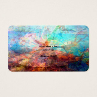Gandhi Inspirational Quote about Love, Life & Hope Business Card