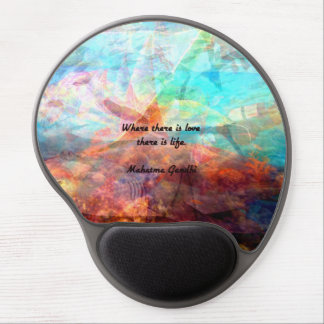 Gandhi Inspirational Quote about Love, Life & Hope Gel Mouse Pad