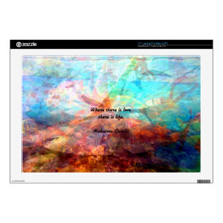 Gandhi Inspirational Quote about Love, Life & Hope Laptop Skin