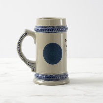 Gandhi Inspirational Quote About Self-Help Beer Stein