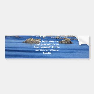 Gandhi Inspirational Quote About Self-Help Bumper Sticker