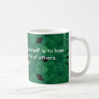 Gandhi Inspirational Quote About Self-Help Coffee Mug