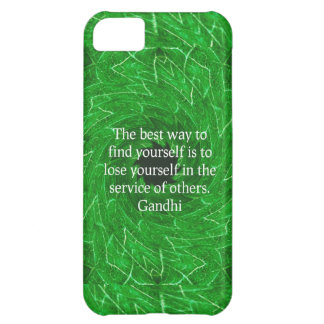 Gandhi Inspirational Quote About Self-Help iPhone 5C Cover