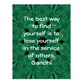 Gandhi Inspirational Quote About Self-Help Letterhead