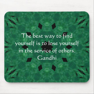 Gandhi Inspirational Quote About Self-Help Mousepads