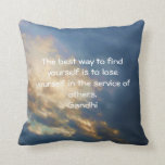 Gandhi Inspirational Quote About Self-Help Throw Pillows