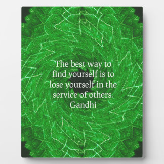 Gandhi Inspirational Quote About Self-Help Plaque