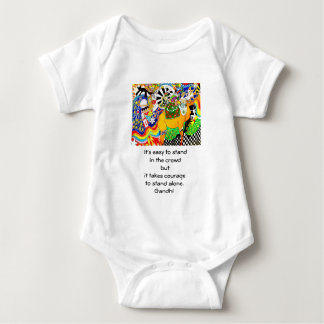 Gandhi Inspirational Quote Quotation About Courage Baby Bodysuit