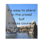 Gandhi Inspirational Quote Quotation About Courage Scratch Pad