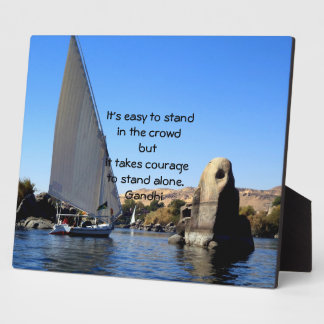 Gandhi Inspirational Quote Quotation About Courage Plaque