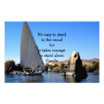 Gandhi Inspirational Quote Quotation About Courage Custom Stationery