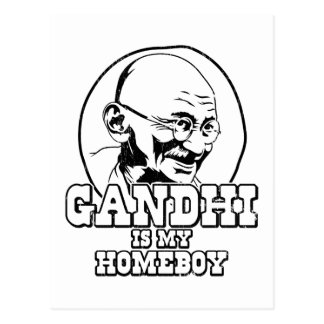Gandhi is my Homeboy Postcard