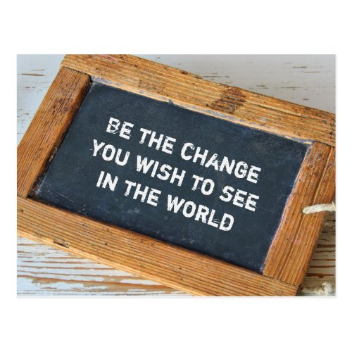 Gandhi _ its change postcard