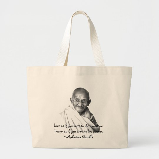 Gandhi Large Tote Bag