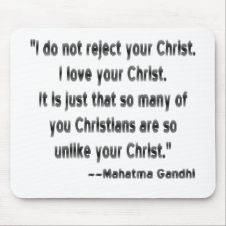 Gandhi on Christians Mousepad