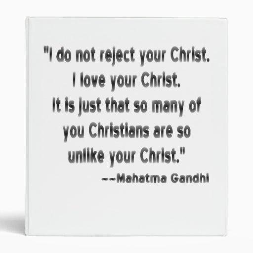 Gandhi on Christians Vinyl Binders