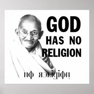 Gandhi on God Poster
