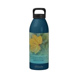 Gandhi Peace Leaf Quote Reusable Water Bottle