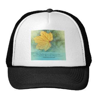 Gandhi Peace Leaf Quote Trucker Hat