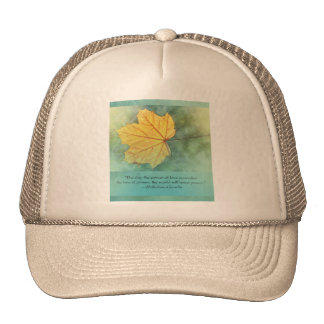 Gandhi Peace Leaf Quote Trucker Hat