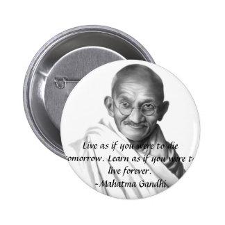 Gandhi Pin Redondo 5 Cm