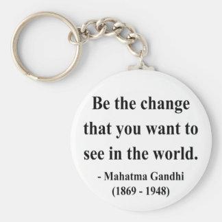 Gandhi Quote 1a Keychain