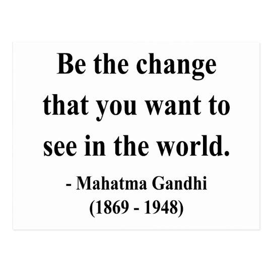 Gandhi Quote 1a Postcard
