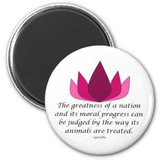 Gandhi Quote 2 Inch Round Magnet