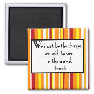 Gandhi Quote 2 Inch Square Magnet