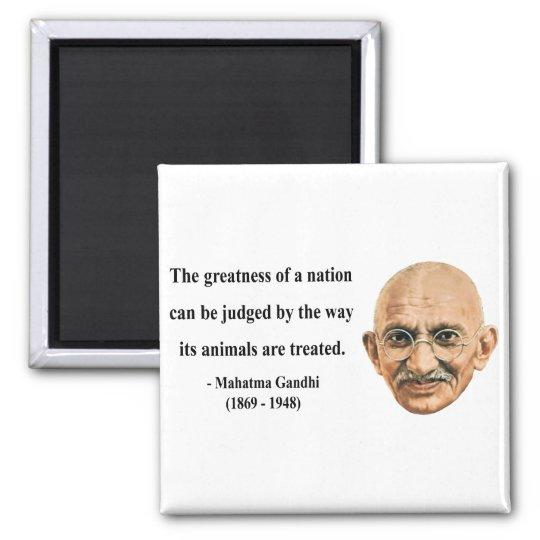 Gandhi Quote 2b 2 Inch Square Magnet