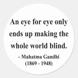 Gandhi Quote 3a Round Sticker