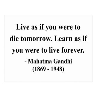 Gandhi Quote 4a Postcard