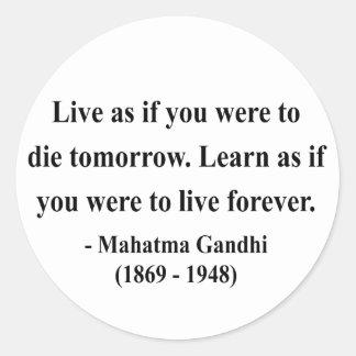 Gandhi Quote 4a Round Sticker
