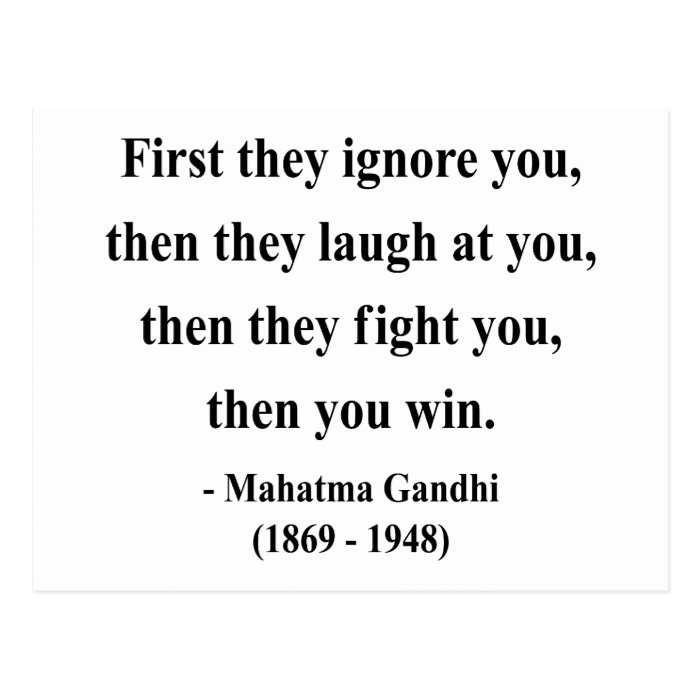 Gandhi Quote 5a Postcard
