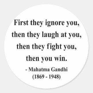 Gandhi Quote 5a Round Sticker