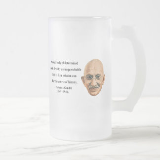 Gandhi Quote 6b Frosted Glass Beer Mug
