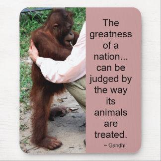 Gandhi Quote: Animals Mouse Pad