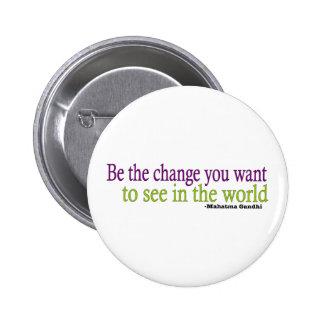 Gandhi Quote 2 Inch Round Button