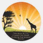 Gandhi Quote Classic Round Sticker