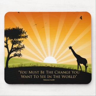 Gandhi Quote - Customized Mouse Mat
