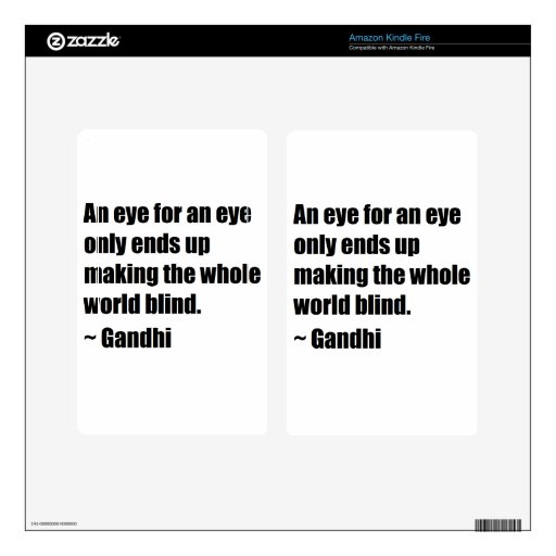 Gandhi Quote Decals For Kindle Fire