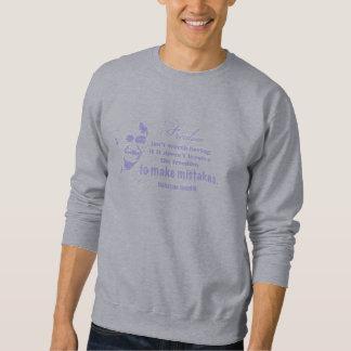 Gandhi Quote - Light Blue text Pullover Sweatshirts