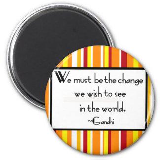 Gandhi Quote Magnet